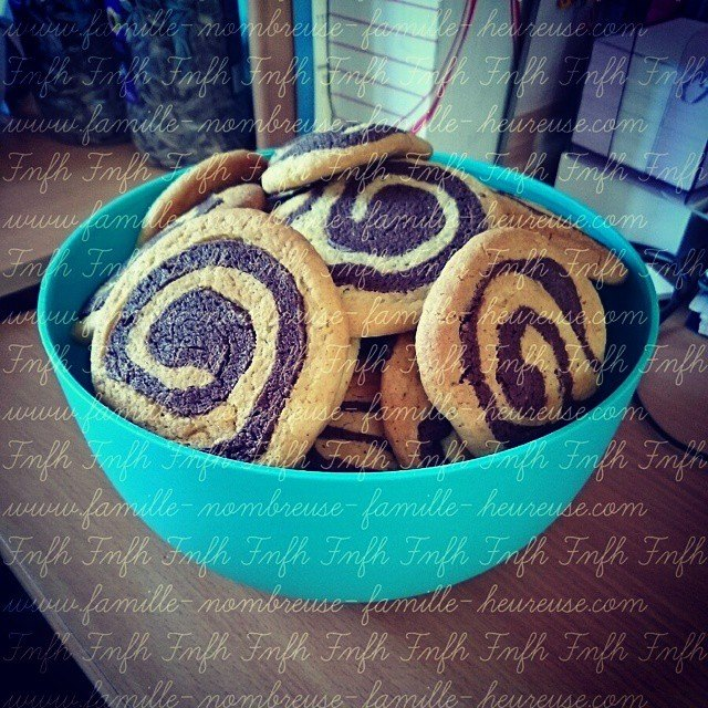 Biscuits escargots Vanille Chocolat