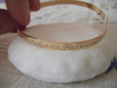 Leur prénom gravé sur mon Bracelet de chez Isabelle B.