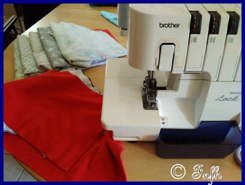 Ma couture du samedi après midi (sarouels et lingettes)