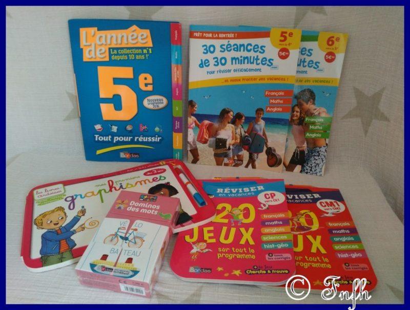 Les cahiers de Vacances des Editions Bordas tout en s'amusant