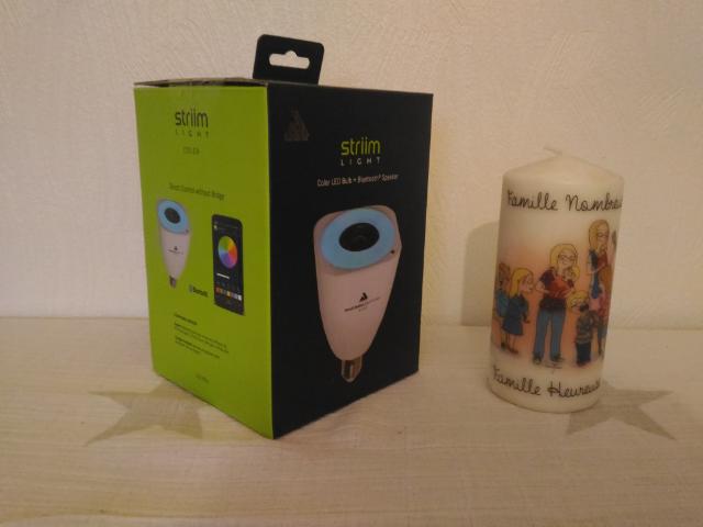 StriimLIGHT Color Ampoule haut parleur Bluetooth de chez AwoX